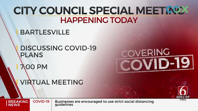 Bartlesville City Councilors Set Special Meeting to Talk Reopening City