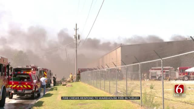 Warehouse Fire Near Turley Under Control