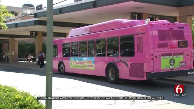 Tulsa Transit Receives Meals On Wheels Community Service Award