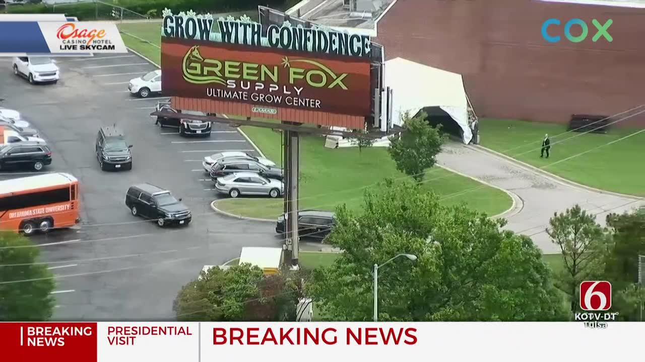President Biden Arrives At the Greenwood Cultural Center