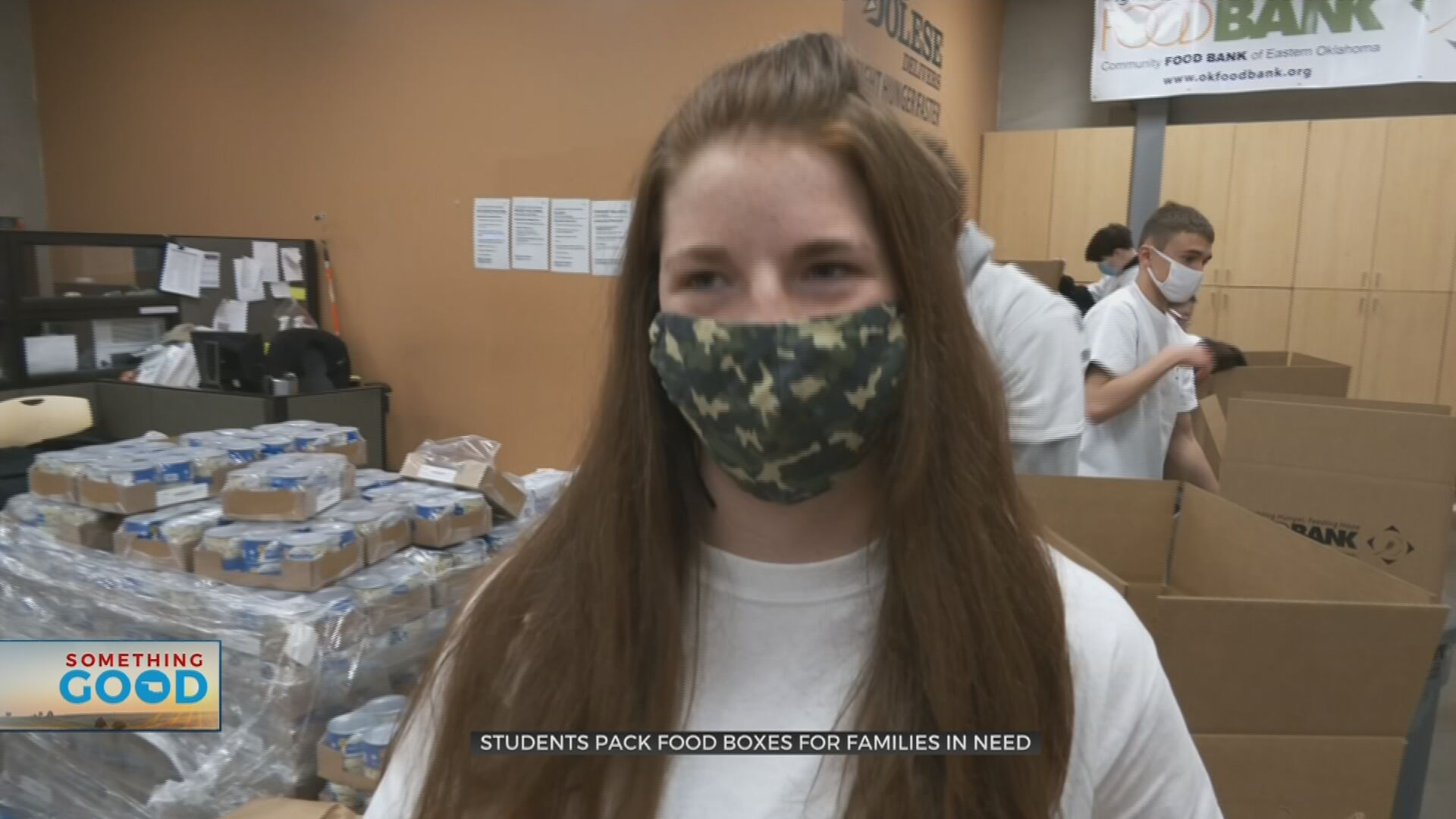 Bishop Kelley Students Pack Food Boxes For Families In Need