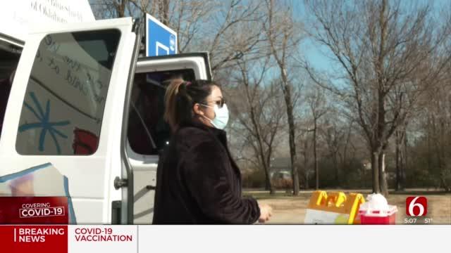 Oklahoma Caring Vans Help Give Tulsa Teachers, Staff COVID-19 Vaccine
