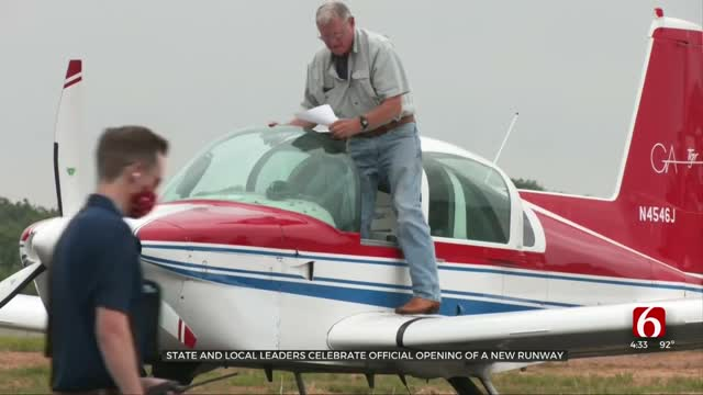State, Local Leaders Celebrate Official Opening Of New Runway In Bristow
