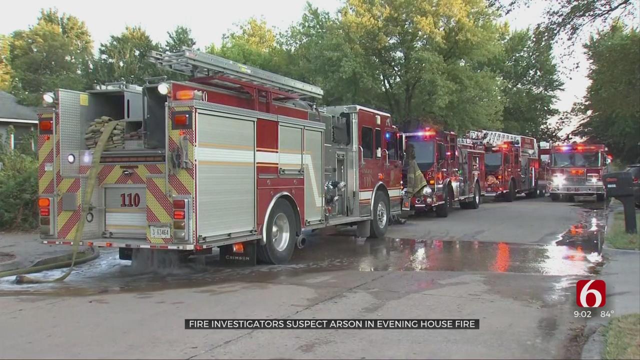Fire Investigators Suspect Arson In Evening House Fire