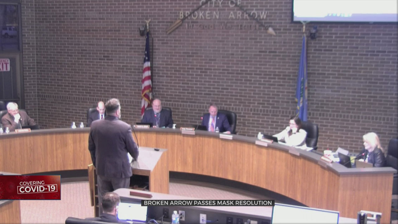 Broken Arrow Passes Mask Resolution During Heated Council Meeting