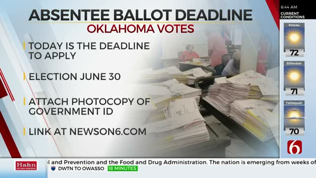 Last Day To Request Absentee Ballot For The Primary Election