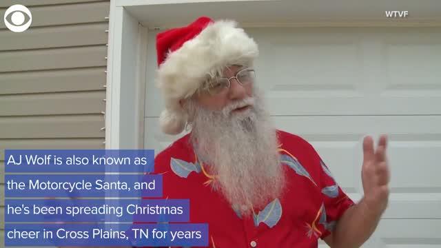 Motorcycle Santa Brings Holiday Cheer Early This Year