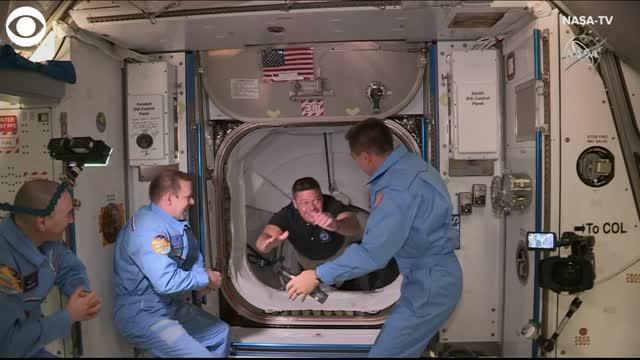 Watch: NASA Astronauts Board The International Space Station