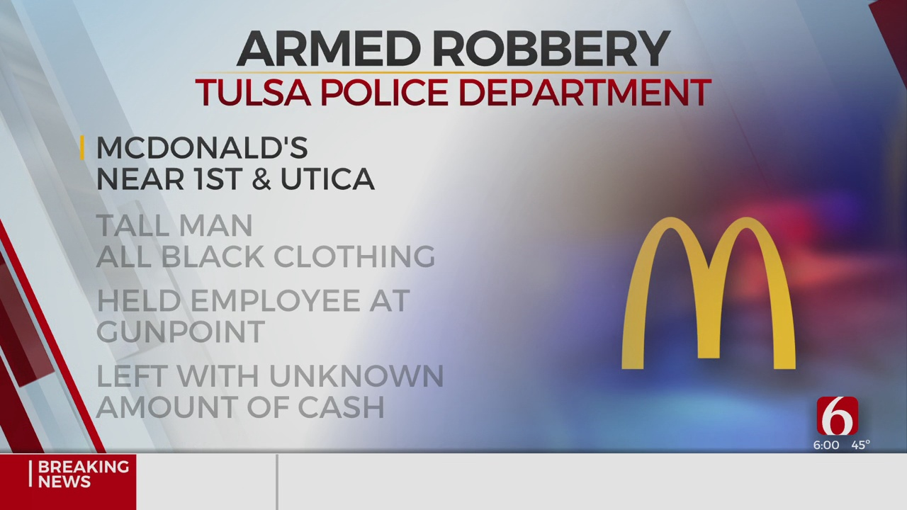 TPD Investigating Armed Robbery At Fast Food Restaurant