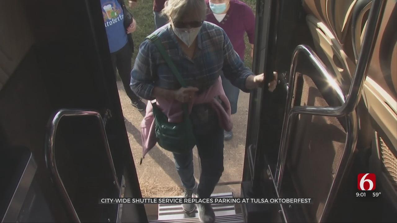 Citywide Shuttle Service Replaces Parking At Tulsa Oktoberfest