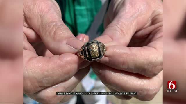 1930's Class Ring Found In Car Returned To Owner's Family