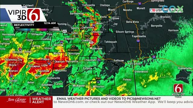 WATCH: Severe Weather Update With Stephen Nehrenz (12:13 a.m.)