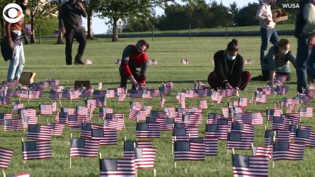 Watch: Thousands Of Flags Installed Near The Washington Monument