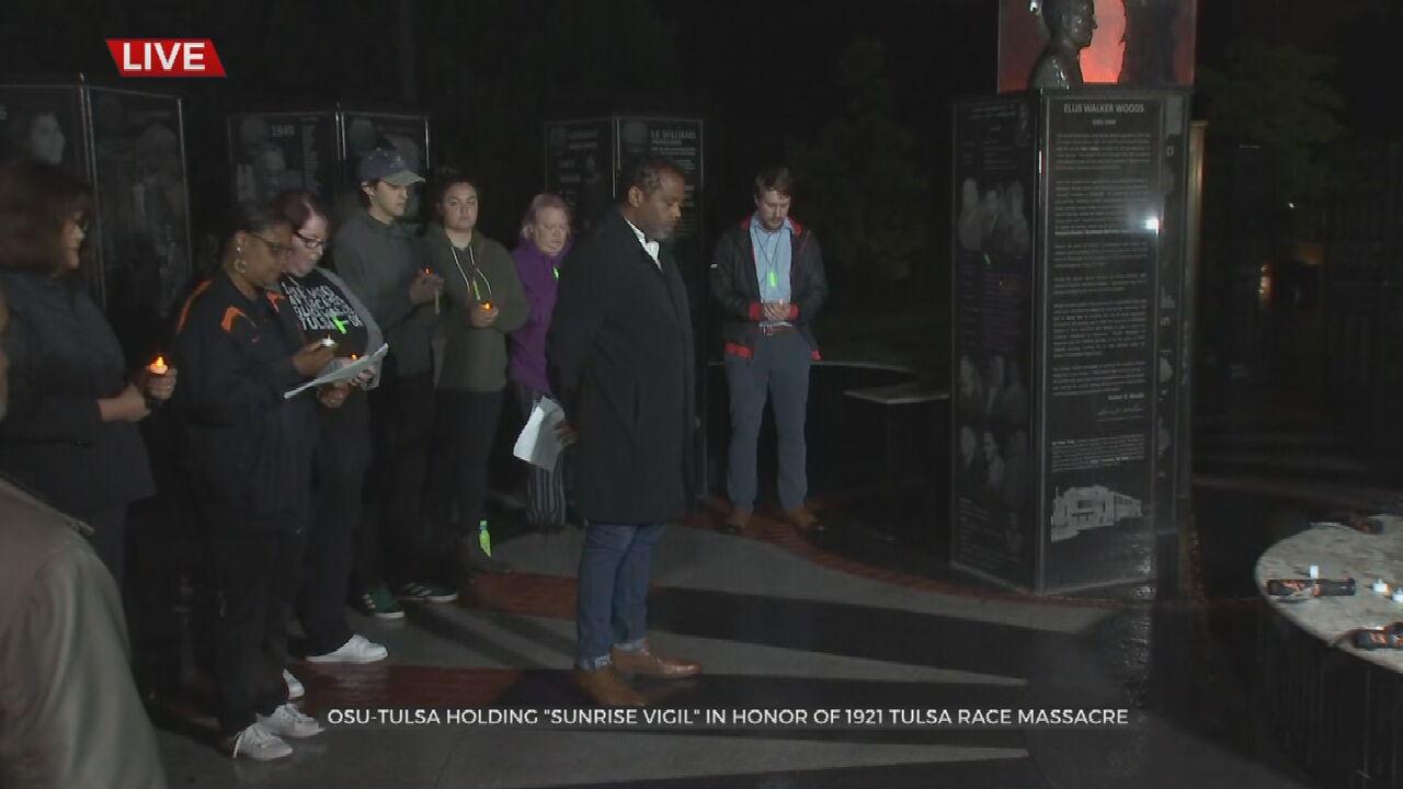 OSU Tulsa Holds 'Sunrise Vigil' To Commemorate 1921 Tulsa Race Massacre