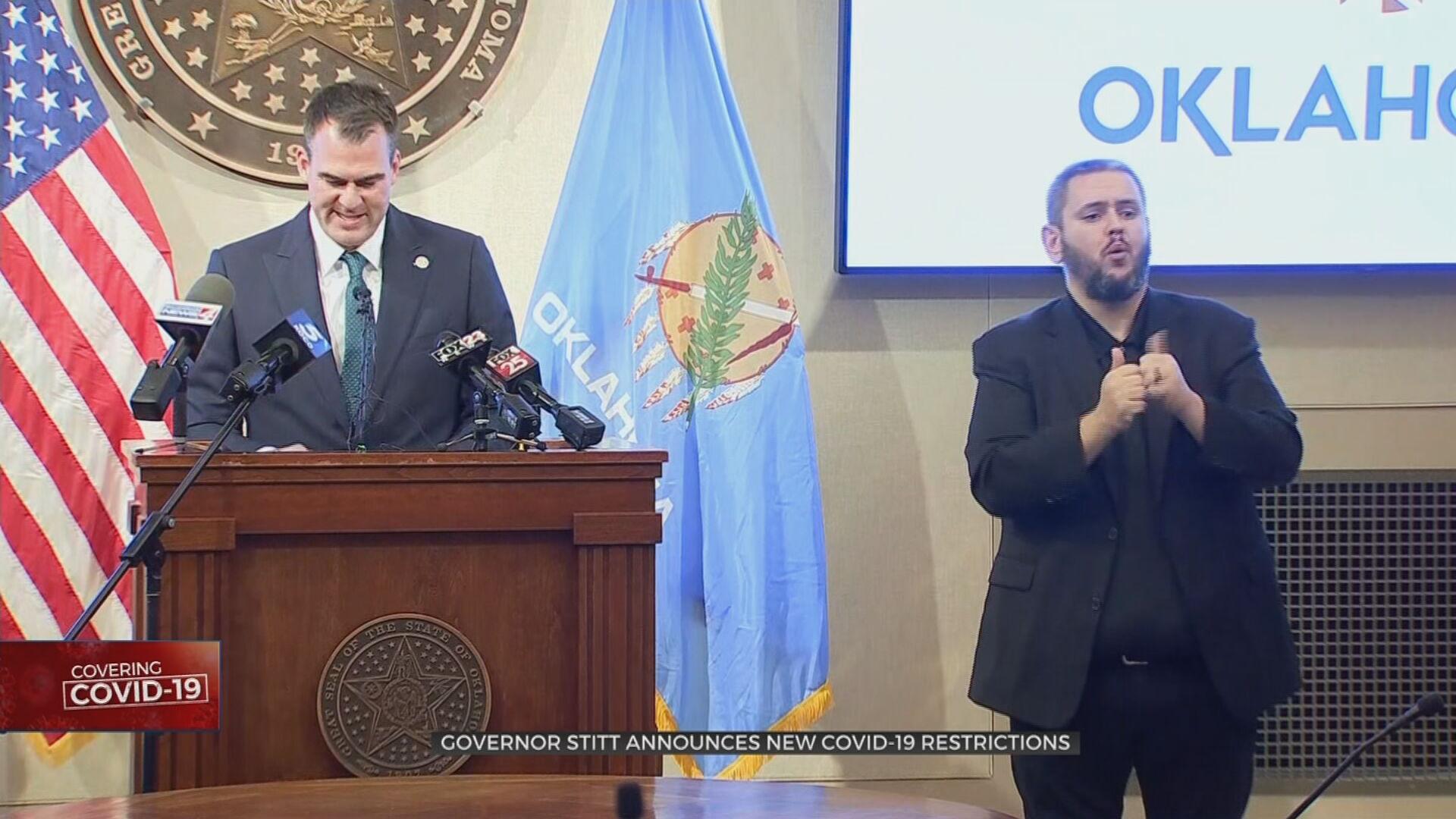 Gov. Stitt Urges Oklahomans To 'Do Their Part' To Ease Burden On Healthcare System