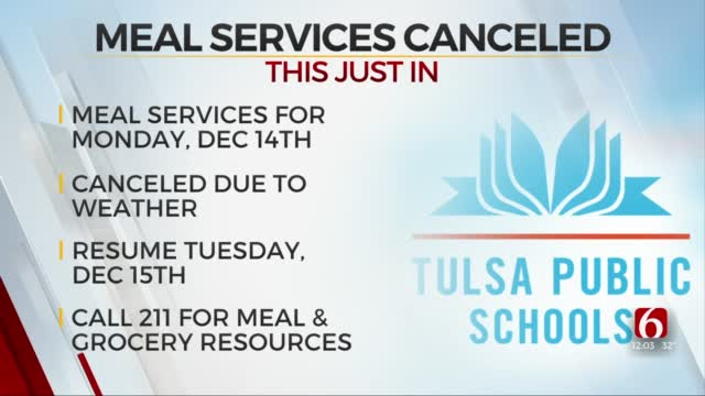 Tulsa Public Schools Cancels Meal Service Due To Weather