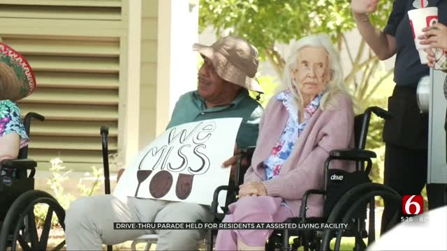 Drive-Thru Parade Held For Residents At Tulsa Assisted Living Facility