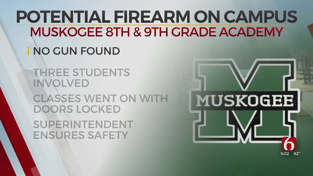 3 Muskogee Students Banned From Campus After Police Receive Potential Firearm Tip