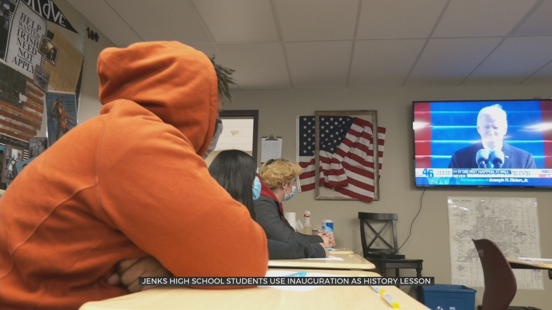 Jenks High School Students Had Eyes On History Using Inauguration As Lesson