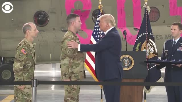 Watch: President Trump Awards Flying Cross To California National Guard Members