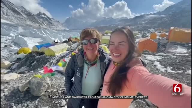 After Overcoming Cancer, Oklahoma Woman Climbs Mount Everest With Mom