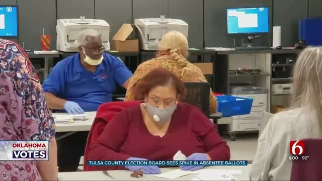 Tulsa County Election Board Sees Spike In Absentee Ballots