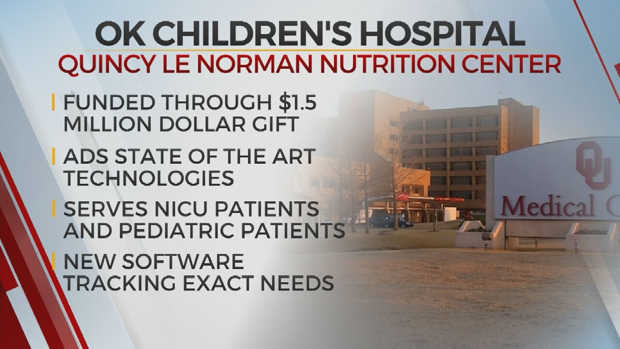 Oklahoma Children's Hospital At OU Health Opens State Of The Art Nutrition Center
