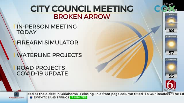 Broken Arrow City Council To Hold In-Person Meeting