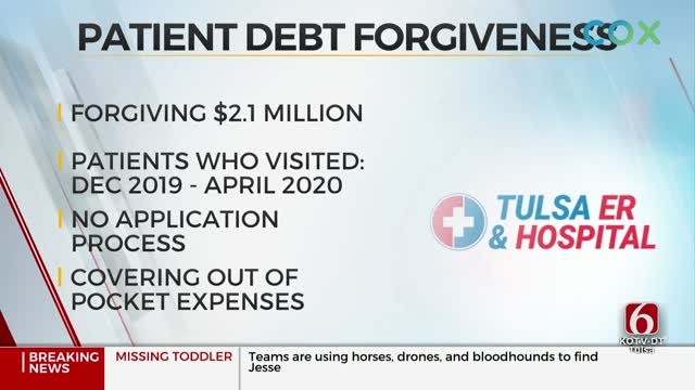 Tulsa ER & Hospital To Forgive More Than $2 Million Of Patient Debt