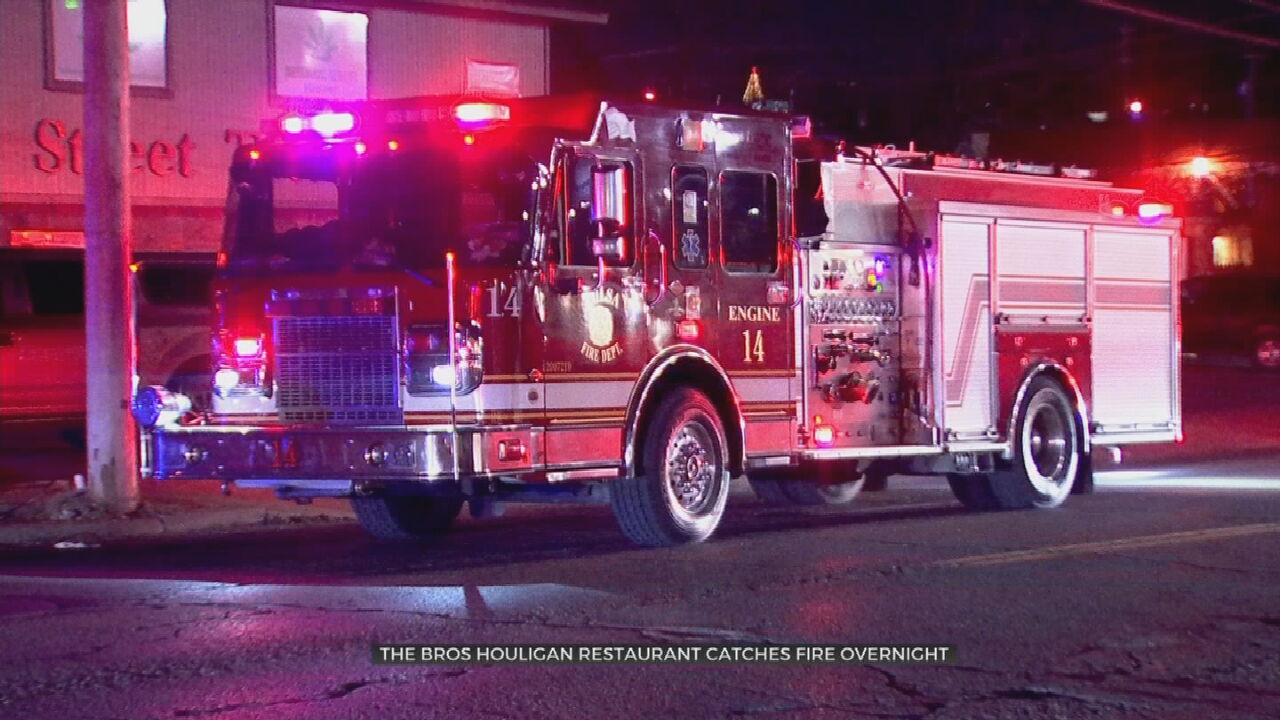 Overnight Alley Fire Spreads To The Bros. Houligan Restaurant