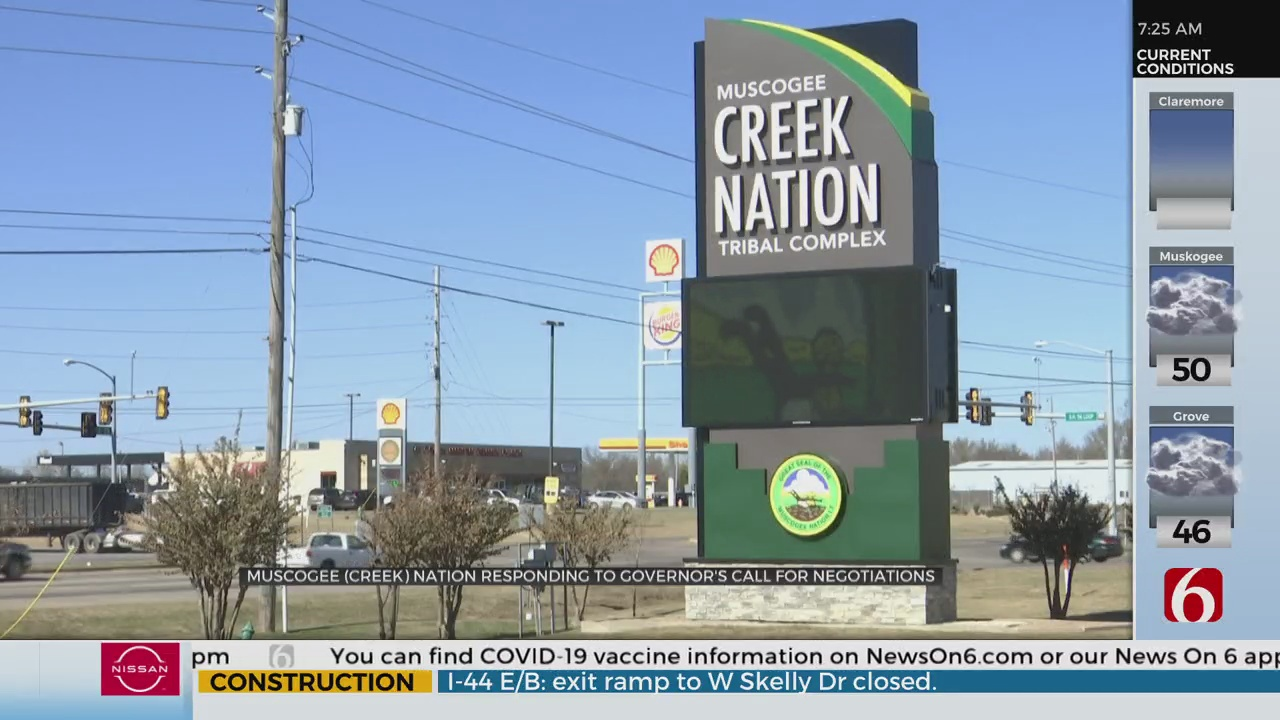 Muscogee Creek Nation Issues Response To Gov. Stitt's Call For Negotiations