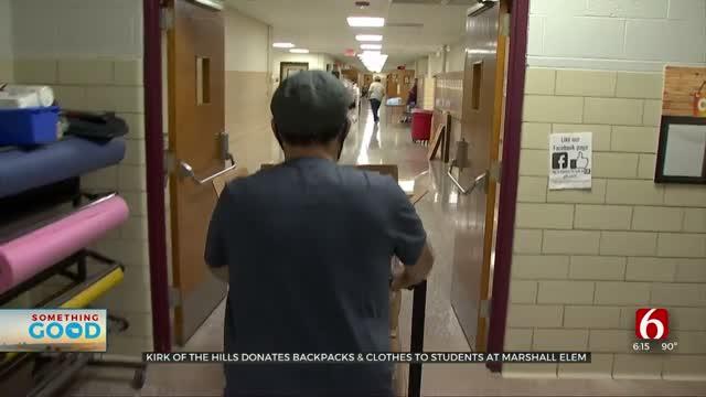 Tulsa Church Donates Backpacks, Clothes To Marshall Elementary Students