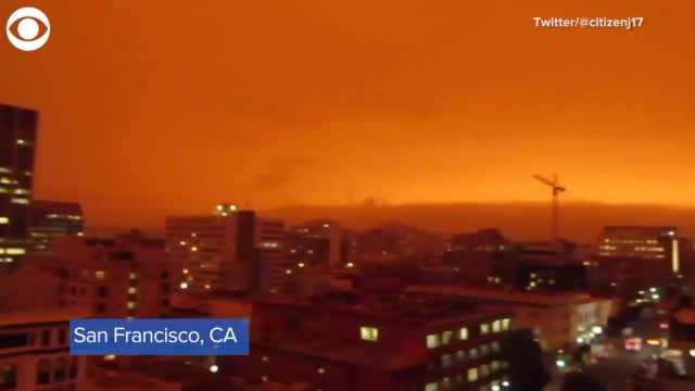 Watch: Sky Turns Orange In San Francisco Due To Wildfires
