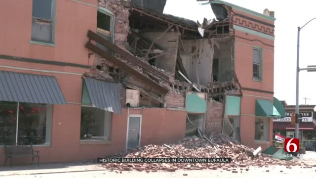 Historic Building Collapses In Downtown Eufaula
