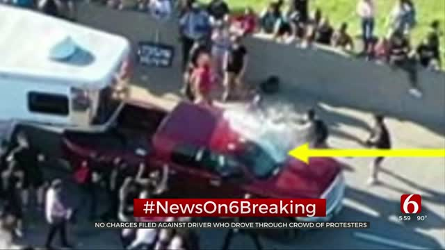 Tulsa Co. DA: No Charges Will Be Filed Against Man Who Drove Through Crowd On I-244