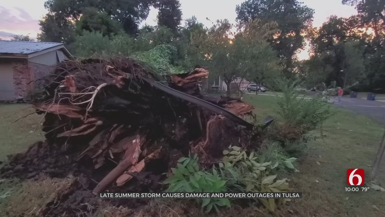 Late Summer Storm Causes Damage, Power Outages In Tulsa