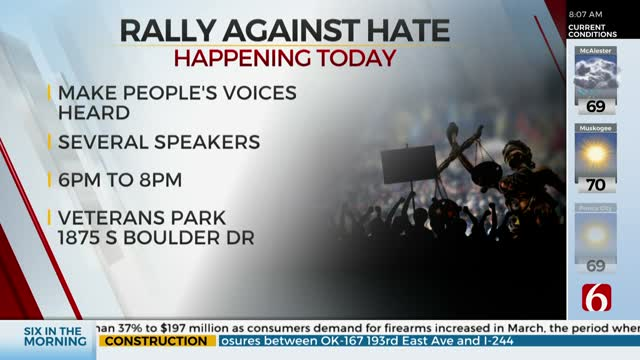 'Rally Against Hate' Happening At Tulsa's Veterans Park