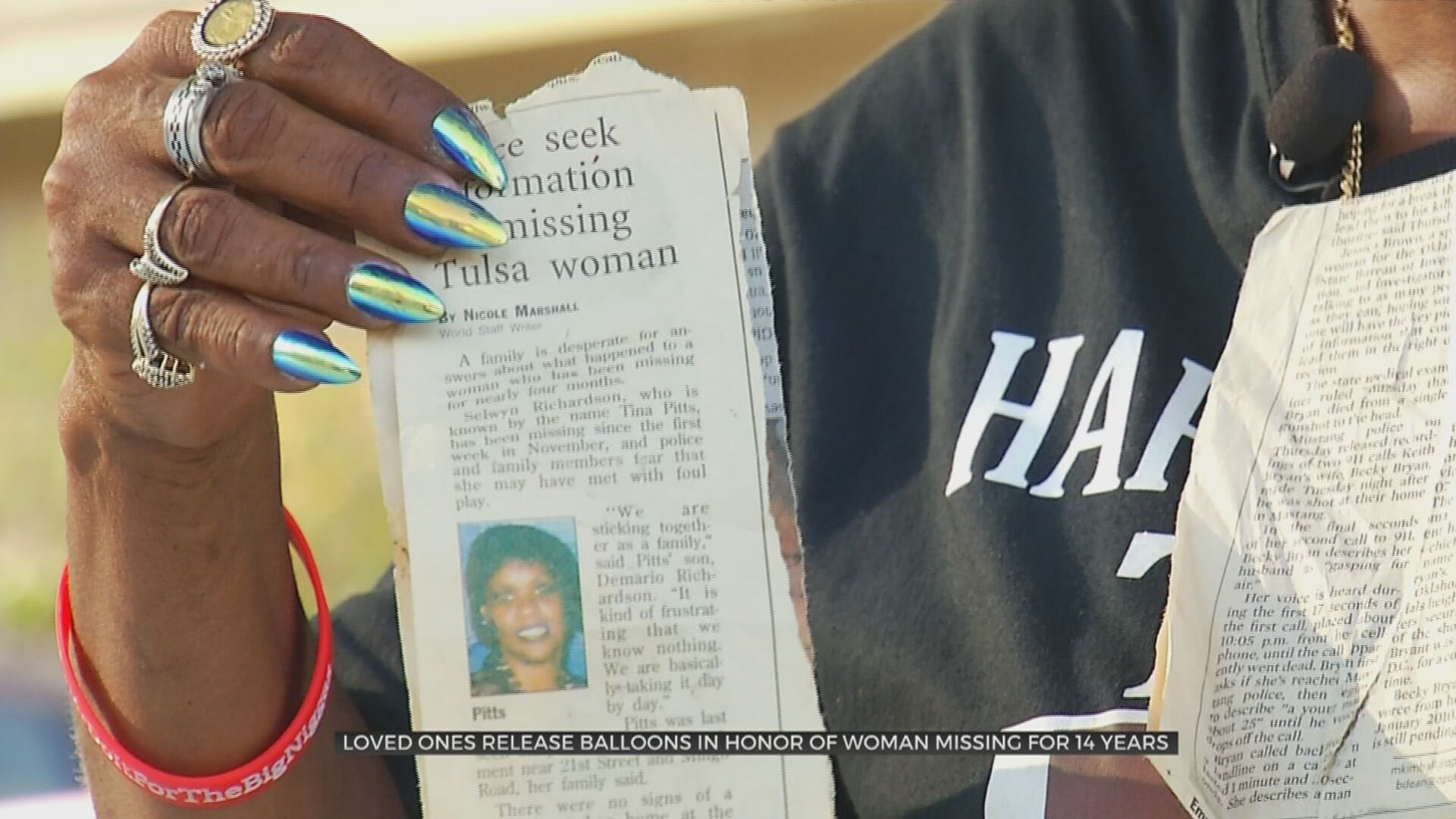 Loved Ones Release Balloons In Honor Of Tulsa Woman Missing For 14 Years