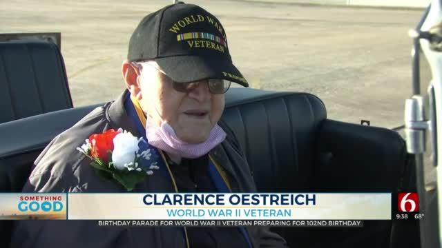 Hundreds Hold Parade Ahead Of Grove WWII Veteran's 102nd Birthday
