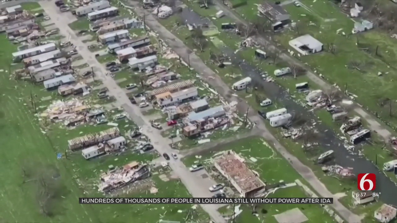 Thousands Of People In Louisiana Still Without Power After Ida