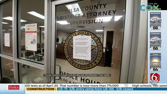 Tulsa County Courthouse Reopening Monday, Some Offices Still Closed