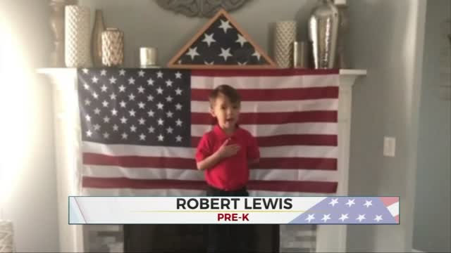 Daily Pledge: Pre-K Student Robert Lewis