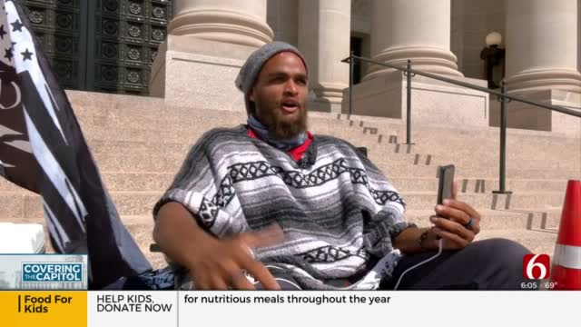 Man Spends Month Living On State Capitol Steps Protesting Injustice