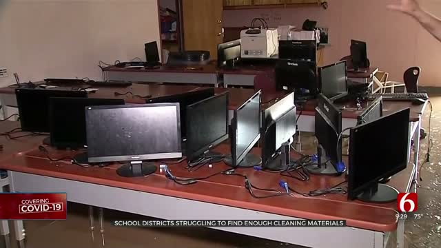 School Districts Struggle To Find Enough Cleaning Materials