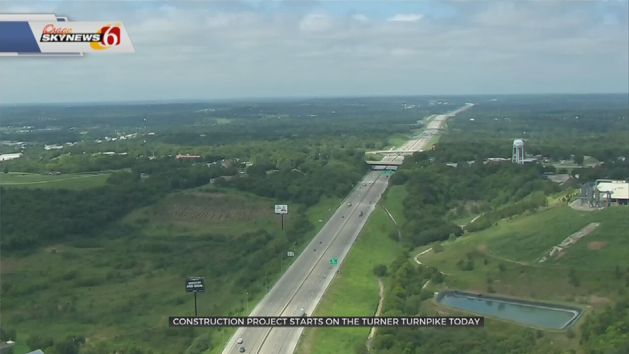 $45M Turner Turnpike Construction Project to Start Monday