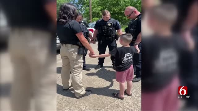 Viral Boy Talks About His Mission To Pray For Tulsa Police Officers