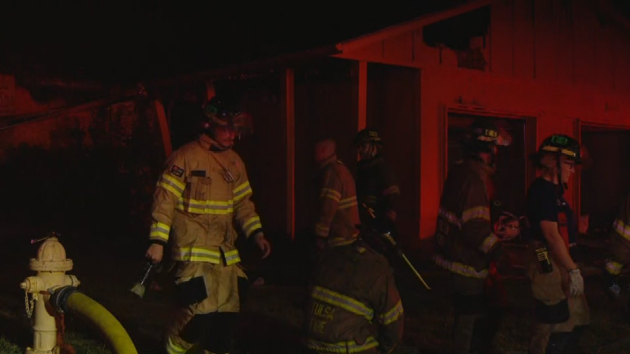 Tulsa Firefighters Respond To Abandoned House Fire