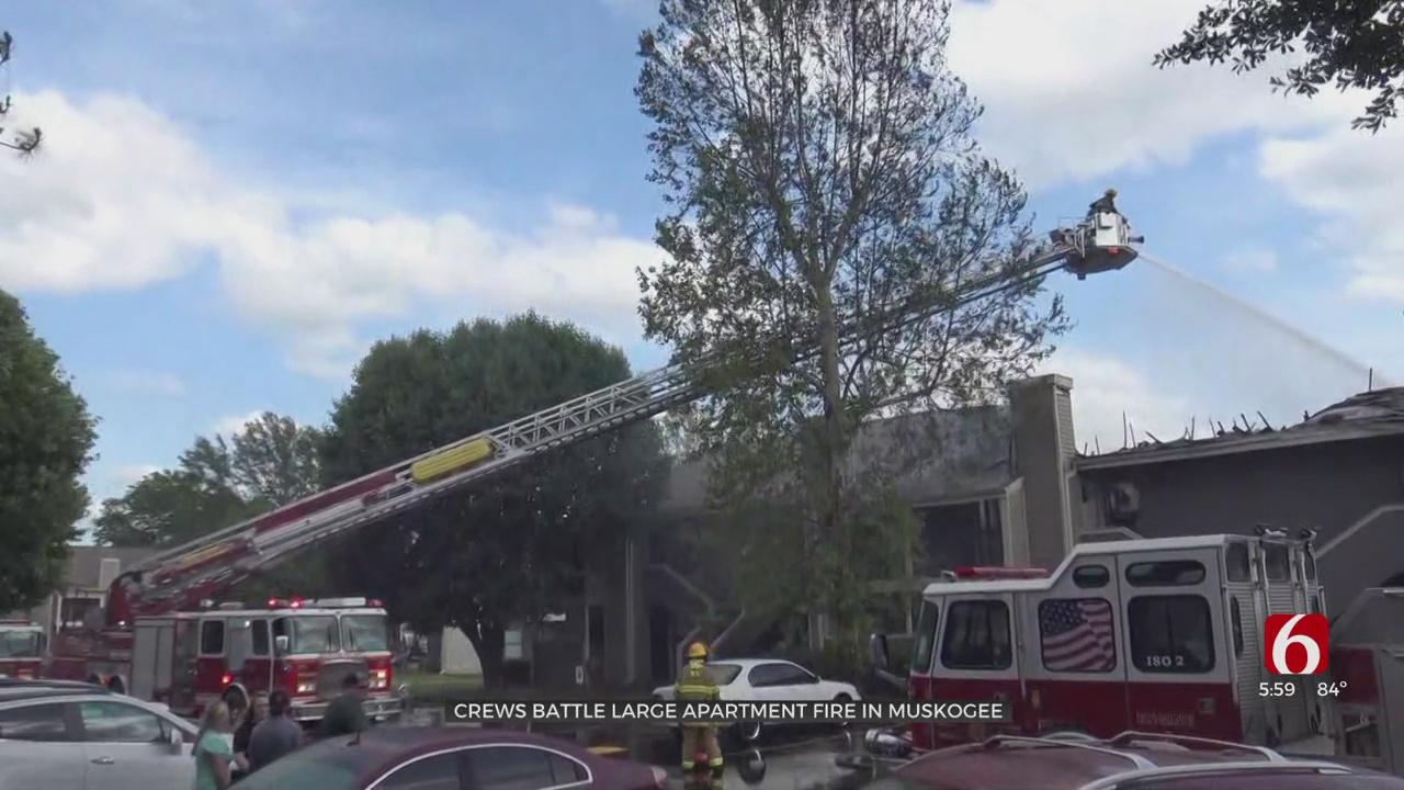 Muskogee Fire Crews Extinguish Blaze At Apartment Complex