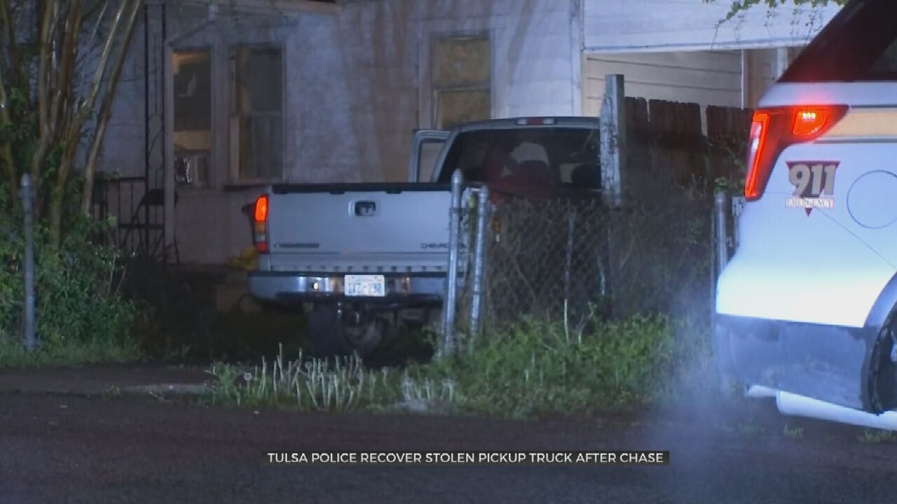 Tulsa Police Recover Stolen Pickup Truck After Chase