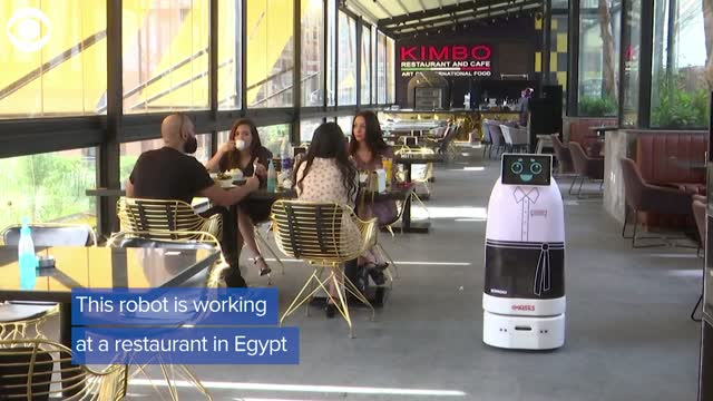 Watch: Robot Waiter Helps Limit Human Contact In Cairo